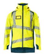 19001-449-1744 Outer Shell Jacket - hi-vis yellow/dark petroleum