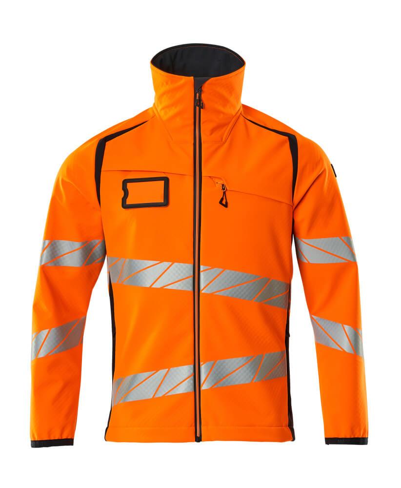 19002-143-14010 Softshell Jacket - hi-vis orange/dark navy