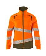 19008-511-1433 Jacket - hi-vis orange/moss green