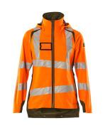 19011-449-1433 Outer Shell Jacket - hi-vis orange/moss green