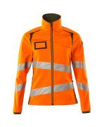 19012-143-1433 Softshell Jacket - hi-vis orange/moss green