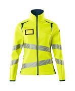 19012-143-1744 Softshell Jacket - hi-vis yellow/dark petroleum