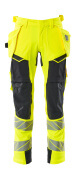 19031-711-14010 Pants with holster pockets - hi-vis orange/dark navy