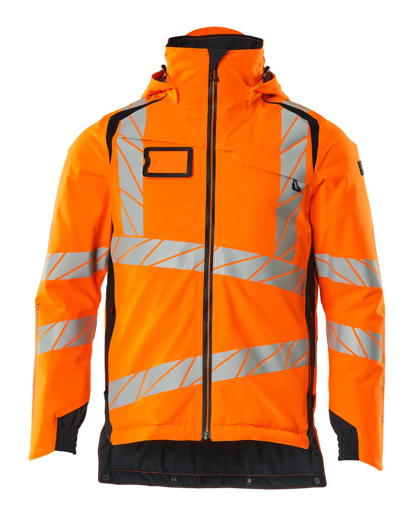19035-449-14010 Winter Jacket - hi-vis orange/dark navy