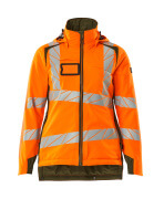 19045-449-1433 Winter Jacket - hi-vis orange/moss green