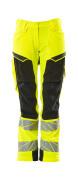 19078-511-1709 Pants with kneepad pockets - hi-vis yellow/black