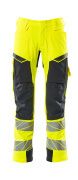 19079-511-14010 Pants with kneepad pockets - hi-vis orange/dark navy