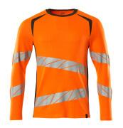 19081-771-1418 T-shirt, long-sleeved - hi-vis orange/dark anthracite