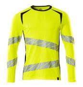 19081-771-1709 T-shirt, long-sleeved - hi-vis yellow/black
