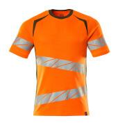 19082-771-1433 T-shirt - hi-vis orange/moss green