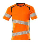 19082-771-1444 T-shirt - hi-vis orange/dark petroleum