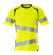 19082-771-14010 T-shirt - hi-vis orange/dark navy