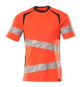 19082-771-22210 T-shirt - hi-vis red/dark navy
