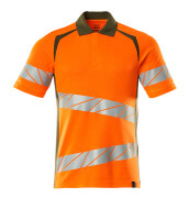 19083-771-1433 Polo shirt - hi-vis orange/moss green
