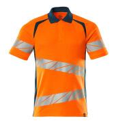 19083-771-1444 Polo shirt - hi-vis orange/dark petroleum