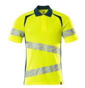 19083-771-1744 Polo shirt - hi-vis yellow/dark petroleum