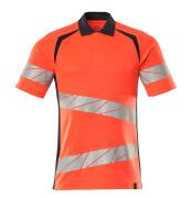19083-771-22210 Polo shirt - hi-vis red/dark navy