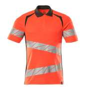 19083-771-22218 Polo shirt - hi-vis red/dark anthracite
