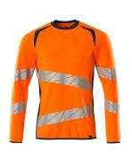 19084-781-1444 Sweatshirt - hi-vis orange/dark petroleum