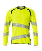19084-781-1744 Sweatshirt - hi-vis yellow/dark petroleum