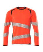 19084-781-22210 Sweatshirt - hi-vis red/dark navy