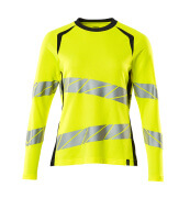 19091-771-14010 T-shirt, long-sleeved - hi-vis orange/dark navy