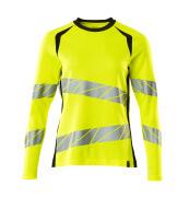19091-771-1709 T-shirt, long-sleeved - hi-vis yellow/black