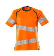 19092-771-1433 T-shirt - hi-vis orange/moss green