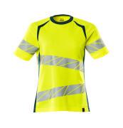 19092-771-1744 T-shirt - hi-vis yellow/dark petroleum