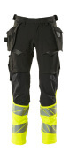 19131-711-01014 Pants with holster pockets - dark navy/hi-vis orange