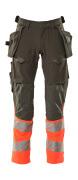 19131-711-01014 Pants with holster pockets - dark navy/hi-vis orange