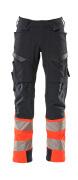 19179-511-01014 Pants with kneepad pockets - dark navy/hi-vis orange