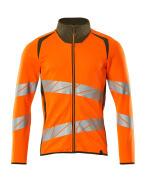 19184-781-1433 Sweatshirt with zipper - hi-vis orange/moss green