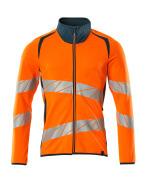 19184-781-1444 Sweatshirt with zipper - hi-vis orange/dark petroleum