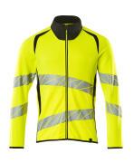 19184-781-1709 Sweatshirt with zipper - hi-vis yellow/black