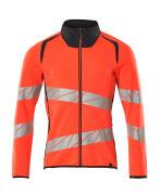 19184-781-22210 Sweatshirt with zipper - hi-vis red/dark navy