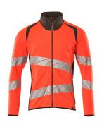 19184-781-22218 Sweatshirt with zipper - hi-vis red/dark anthracite