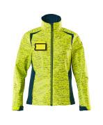 19212-291-1744 Softshell Jacket - hi-vis yellow/dark petroleum