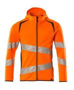 19284-781-1418 Hoodie with zipper - hi-vis orange/dark anthracite