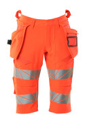 19349-711-222 Shorts, long, with holster pockets - hi-vis red