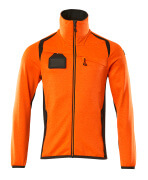 19403-316-1418 Fleece Jumper with zipper - hi-vis orange/dark anthracite