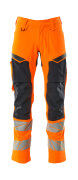 19479-711-14010 Pants with kneepad pockets - hi-vis orange/dark navy