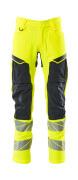 19479-711-14010 Pants with kneepad pockets - hi-vis orange/dark navy