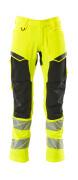 19479-711-1709 Pants with kneepad pockets - hi-vis yellow/black
