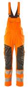 19569-236-1418 Bib & Brace with kneepad pockets - hi-vis orange/dark anthracite
