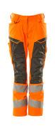 19578-236-1418 Pants with kneepad pockets - hi-vis orange/dark anthracite