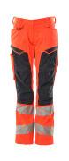 19578-236-14010 Pants with kneepad pockets - hi-vis orange/dark navy