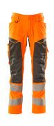 19579-236-1418 Pants with kneepad pockets - hi-vis orange/dark anthracite