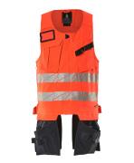 19589-711-22210 Tool Vest - hi-vis red/dark navy
