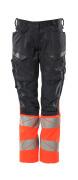 19678-236-10222 Pants with kneepad pockets - dark navy/hi-vis red